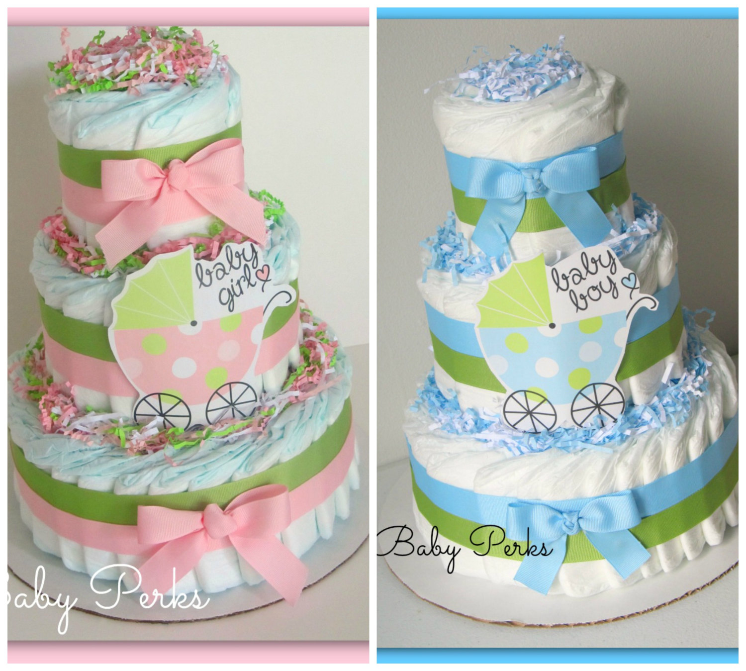 10 Diaper Carriage Cakes For Girls Photo Baby Girl Diaper Cake