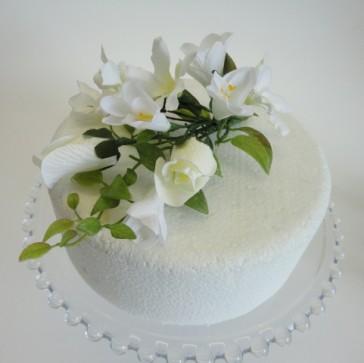 11 cakes with silk flowers photo wedding cakes with artificial silk flower wedding cake toppers mightylinksfo