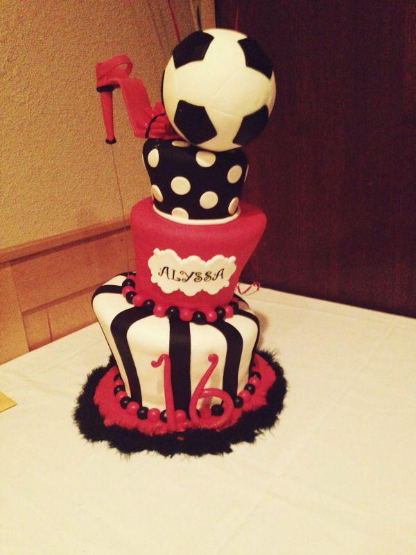 Strange 12 Football Birthday Cakes Girly Photo Girl Soccer Birthday Cake Funny Birthday Cards Online Alyptdamsfinfo