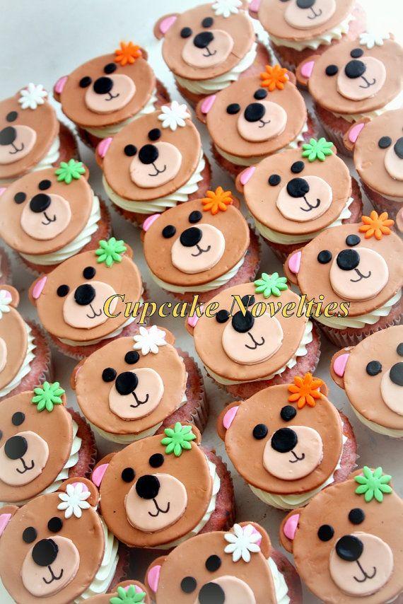 793e7fbaf64 Speedy Gonzales Birthday Cake via. Teddy Bear Cupcake Toppers