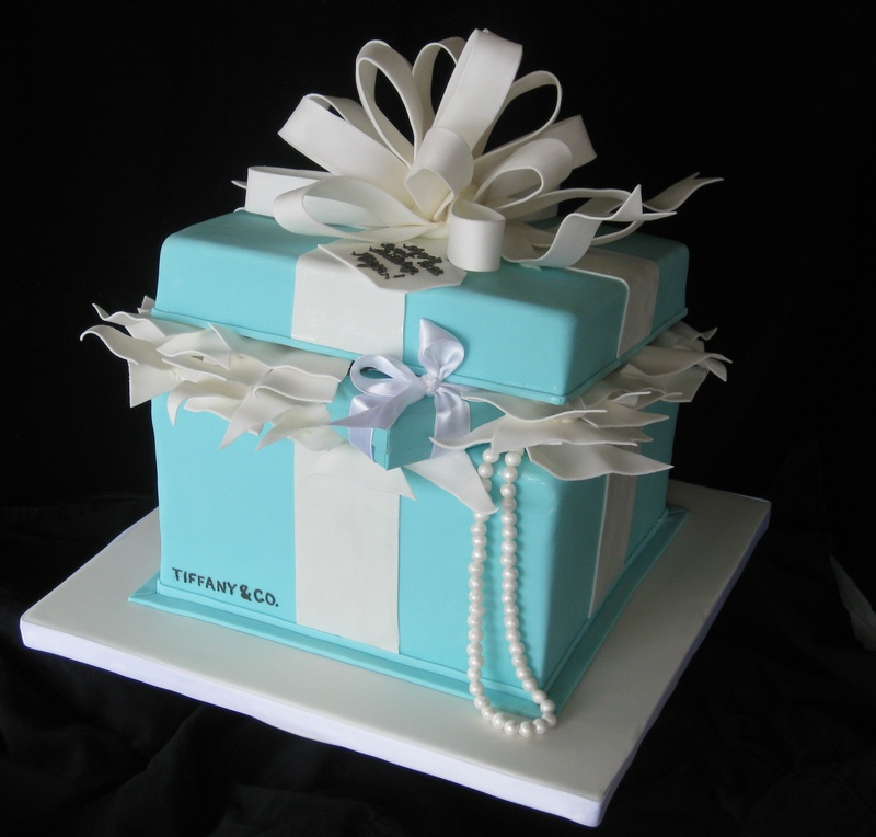 13 Tiffany Color Birthday Cakes Photo Tiffany Gift Box Cake
