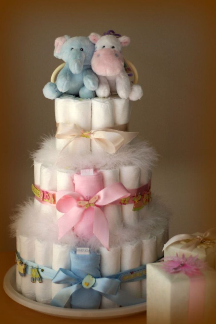 8 Multiples Diaper Cakes For Photo Twin Baby Shower Diaper Cakes