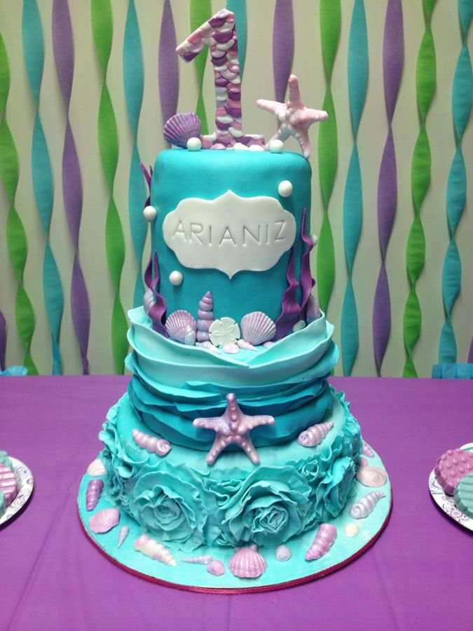 Admirable 12 Teenager Cakes For Under The Sea Photo Under The Sea Mermaid Funny Birthday Cards Online Overcheapnameinfo
