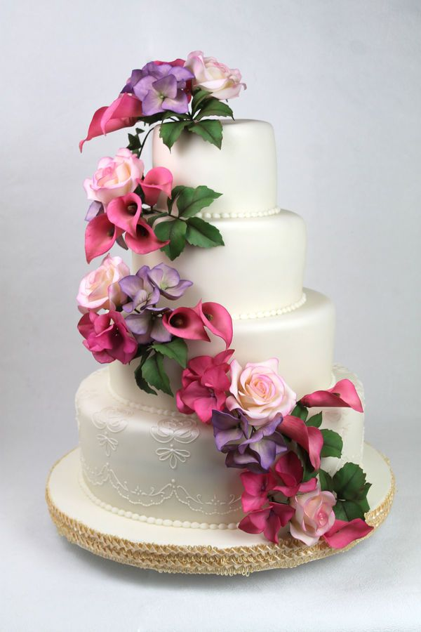 How To Place Silk Flowers On A Wedding Cake Flowers Healthy