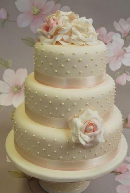 6 Three Tier Round Wedding Cakes Photo - 3 Tier Wedding Cake Designs ...