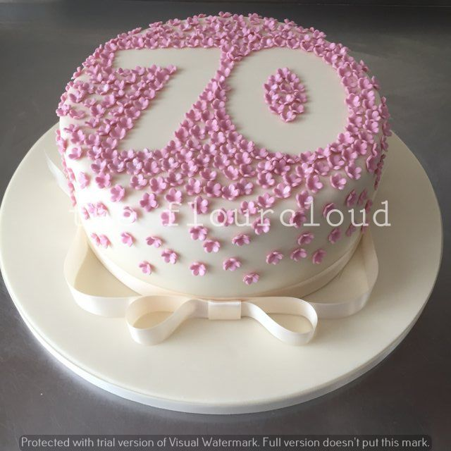 70th Birthday Cake Ideas For Mom