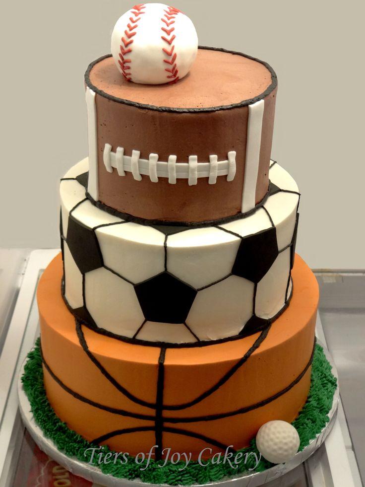 7 Tier Sports Theme Cakes Photo Sports Themed Birthday Cake