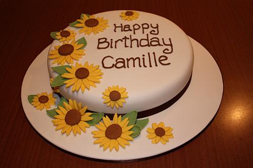 Amazing 10 Cakes With Sunflowers On It Photo Wedding Cake With Funny Birthday Cards Online Necthendildamsfinfo
