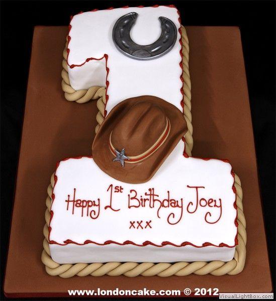 Surprising 11 Cowboy Theme 1St Birthday Cakes Photo Western Cowboy Birthday Funny Birthday Cards Online Alyptdamsfinfo