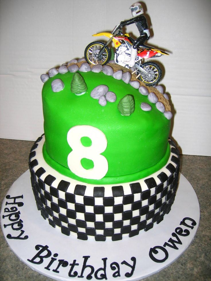 Peachy 10 Dirt Themed Birthday Cakes Photo Dirt Bike Themed Birthday Funny Birthday Cards Online Overcheapnameinfo