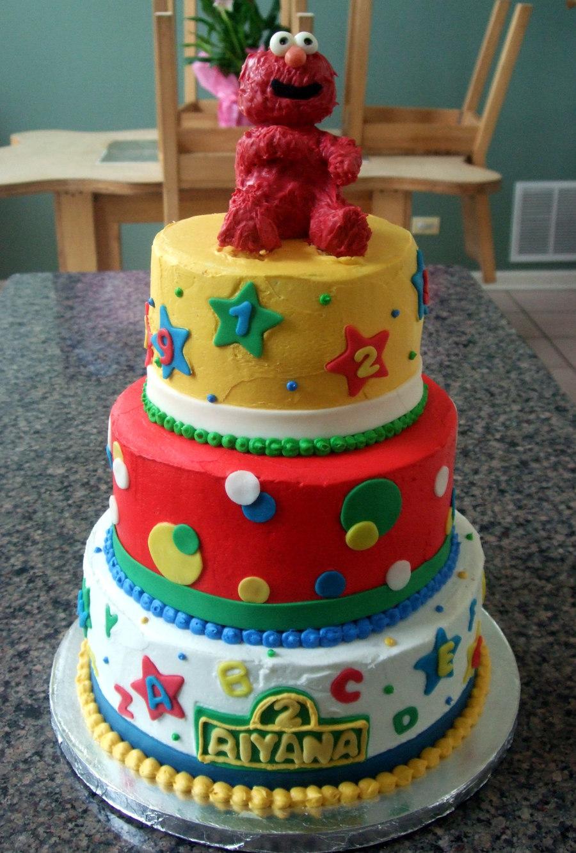 6 Elmo Birthday Cakes One Tier Photo Sesame Street Birthday Cake