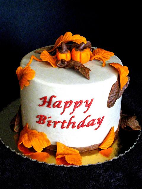 Sensational 12 Birthday Cakes Square Fall Photo Fall Birthday Cake Happy Funny Birthday Cards Online Unhofree Goldxyz