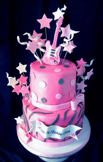 Amazing 11 Rock Girl Birthday Cakes Photo Girls Rock Star Birthday Cake Funny Birthday Cards Online Kookostrdamsfinfo