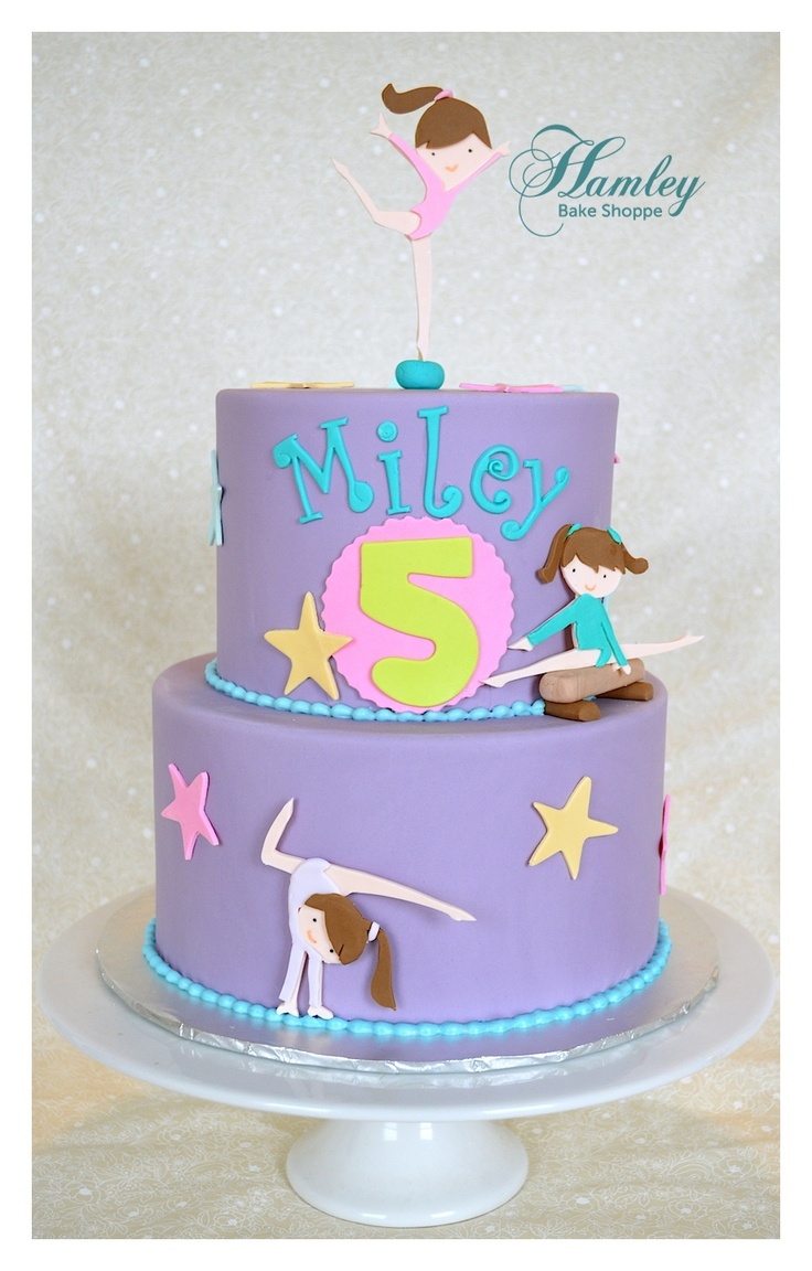 Fine 11 Gymnastics Birthday Cakes Pretty Photo Gymnastics Birthday Personalised Birthday Cards Petedlily Jamesorg