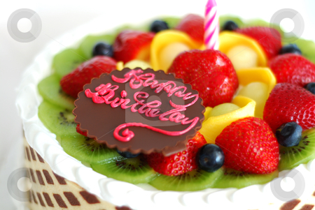 Happy Birthday Cake With Fruit