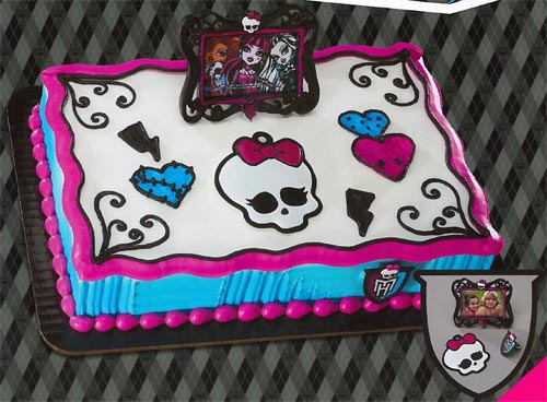 Magnificent 10 Monster High Birthday Cakes At A Bakery Photo Best Bakeries Personalised Birthday Cards Veneteletsinfo