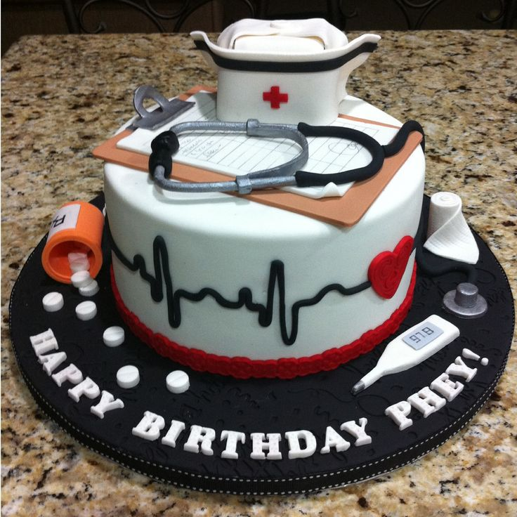 13 Nurse Themed Birthday Cakes For Photo