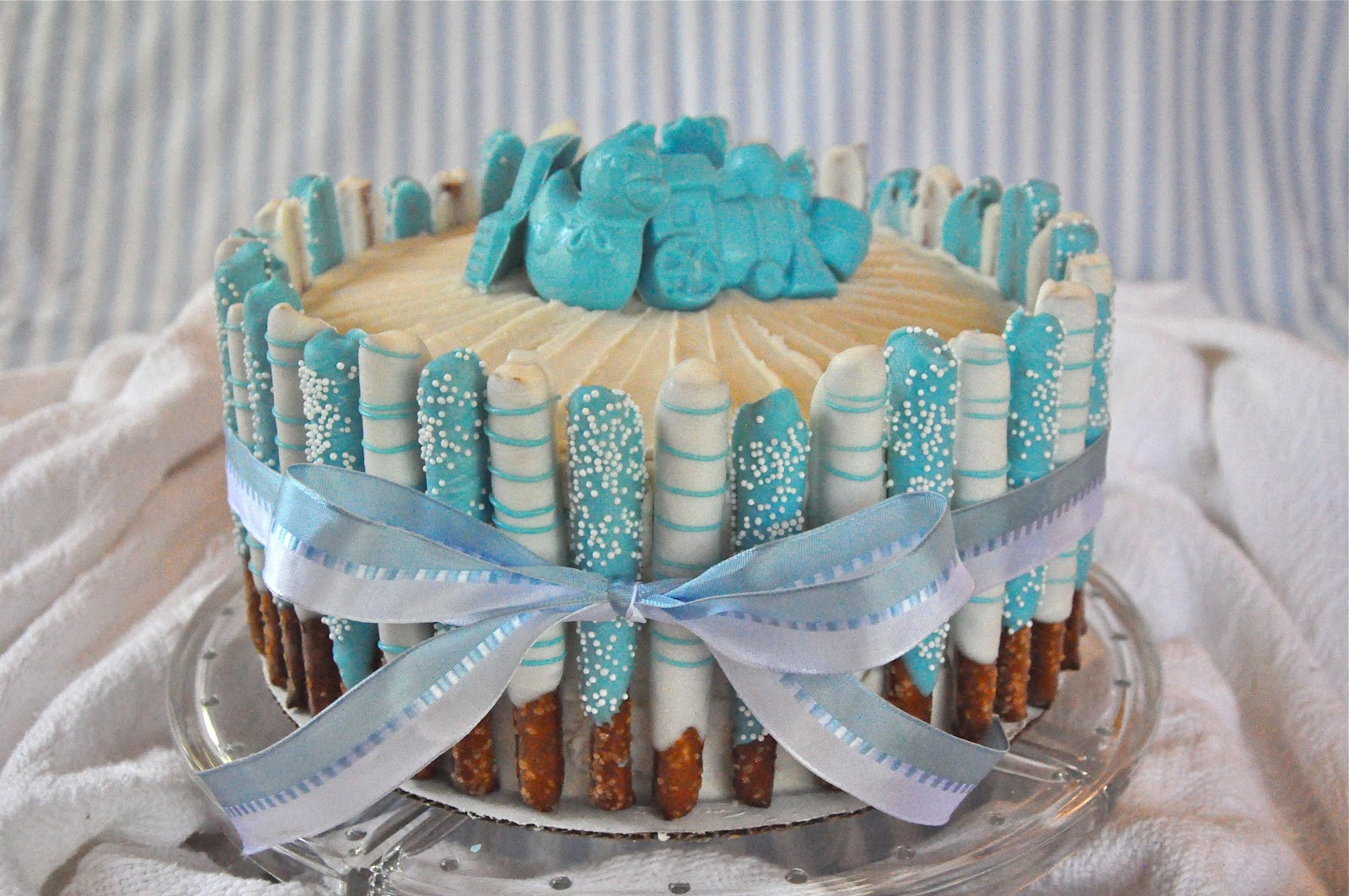 8 Simple Baby Boy Shower Cakes Ideas Photo Simple Baby Boy Shower