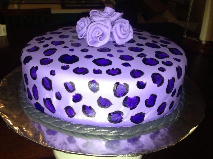 Pleasant 12 Purple And Black Cheetah Print Cakes Photo Purple Cheetah Funny Birthday Cards Online Inifofree Goldxyz