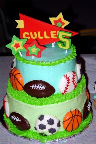 Awesome 7 Tier Sports Theme Cakes Photo Sports Themed Birthday Cake Funny Birthday Cards Online Elaedamsfinfo