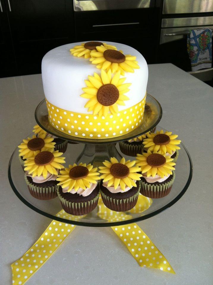 12 Easy Sunflower Cakes Photo Sunflower Cake Ideas Simple