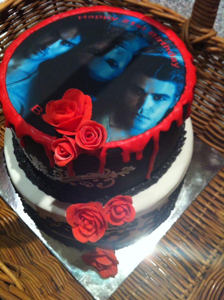 Brilliant 9 Easy Vampire Diaries Birthday Cakes Photo Vampire Diaries Funny Birthday Cards Online Overcheapnameinfo