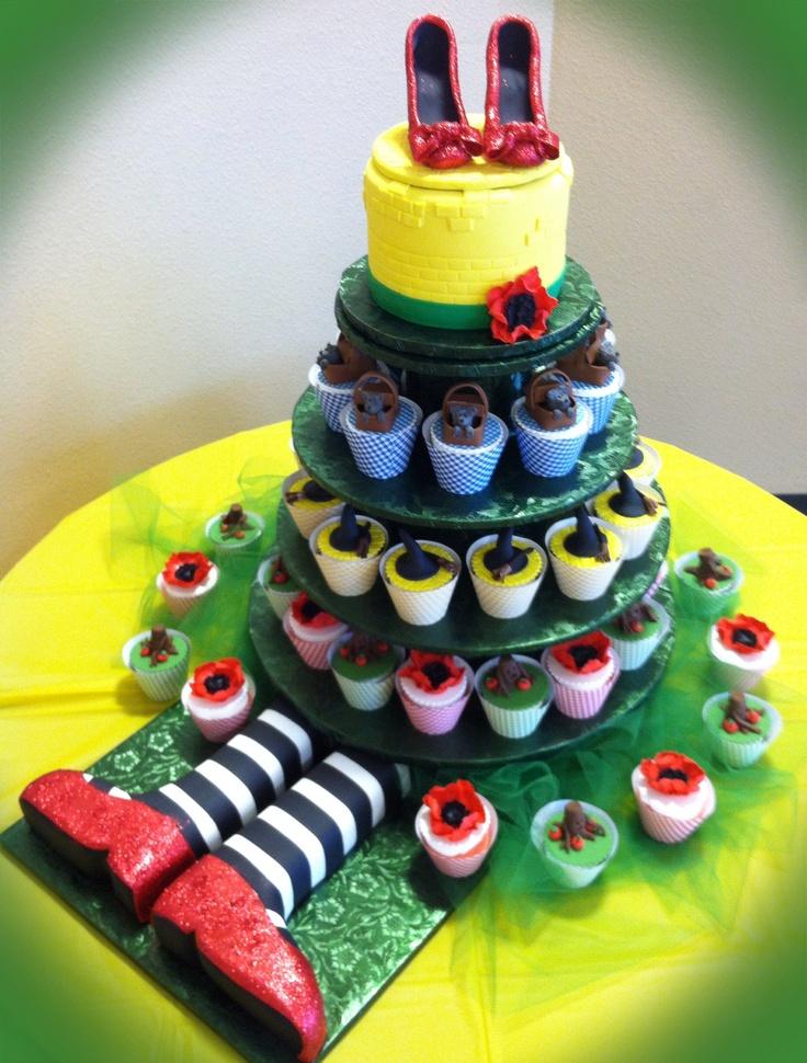 11 Wizard Of Oz Birthday Cake Cupcakes Photo Wizard Of Oz Cake And