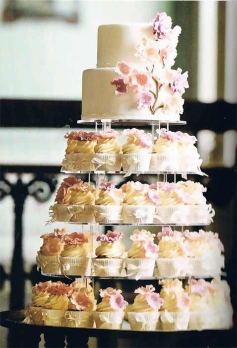 11 Cake Vs Wedding Cupcakes Photo - 2 Tier Wedding Cakes with ...