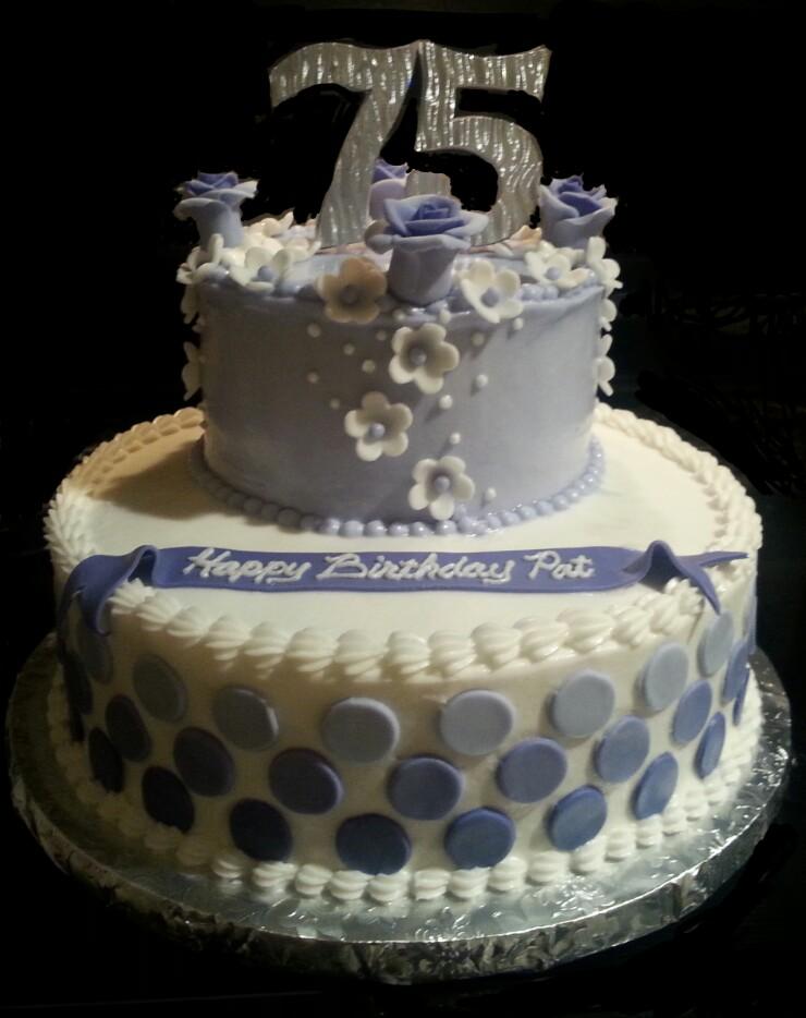 9 Elegant 75th Birthday Cakes Photo Mom Cake Ideas