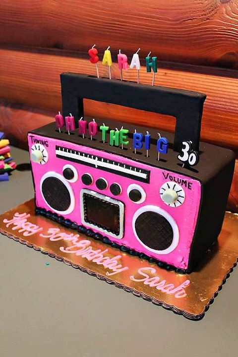 80s Theme Party Cake