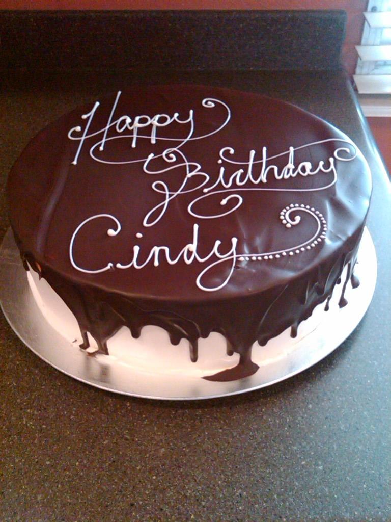 Astounding 11 Birthday Ganache Cakes Photo Chocolate Ganache Birthday Cake Personalised Birthday Cards Vishlily Jamesorg