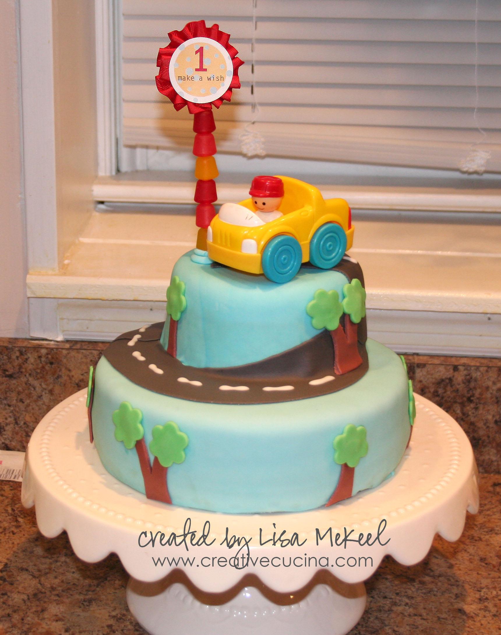 11 First Birthday Fondant Cakes For Boys Photo