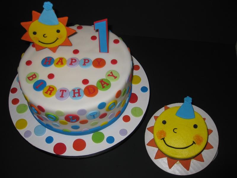 11 First Birthday Fondant Cakes For Boys Photo Boys 1st Birthday