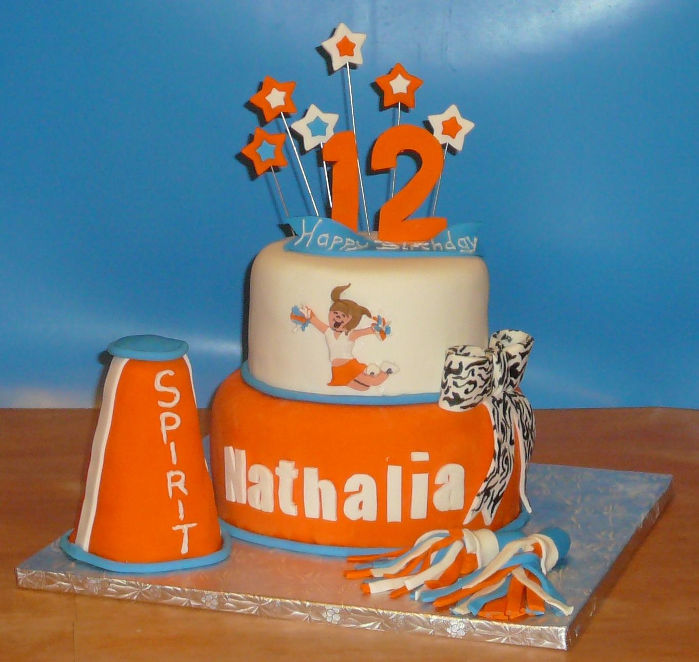 12 Cheer Birthday Cakes Photo Cheerleading Birthday Cake