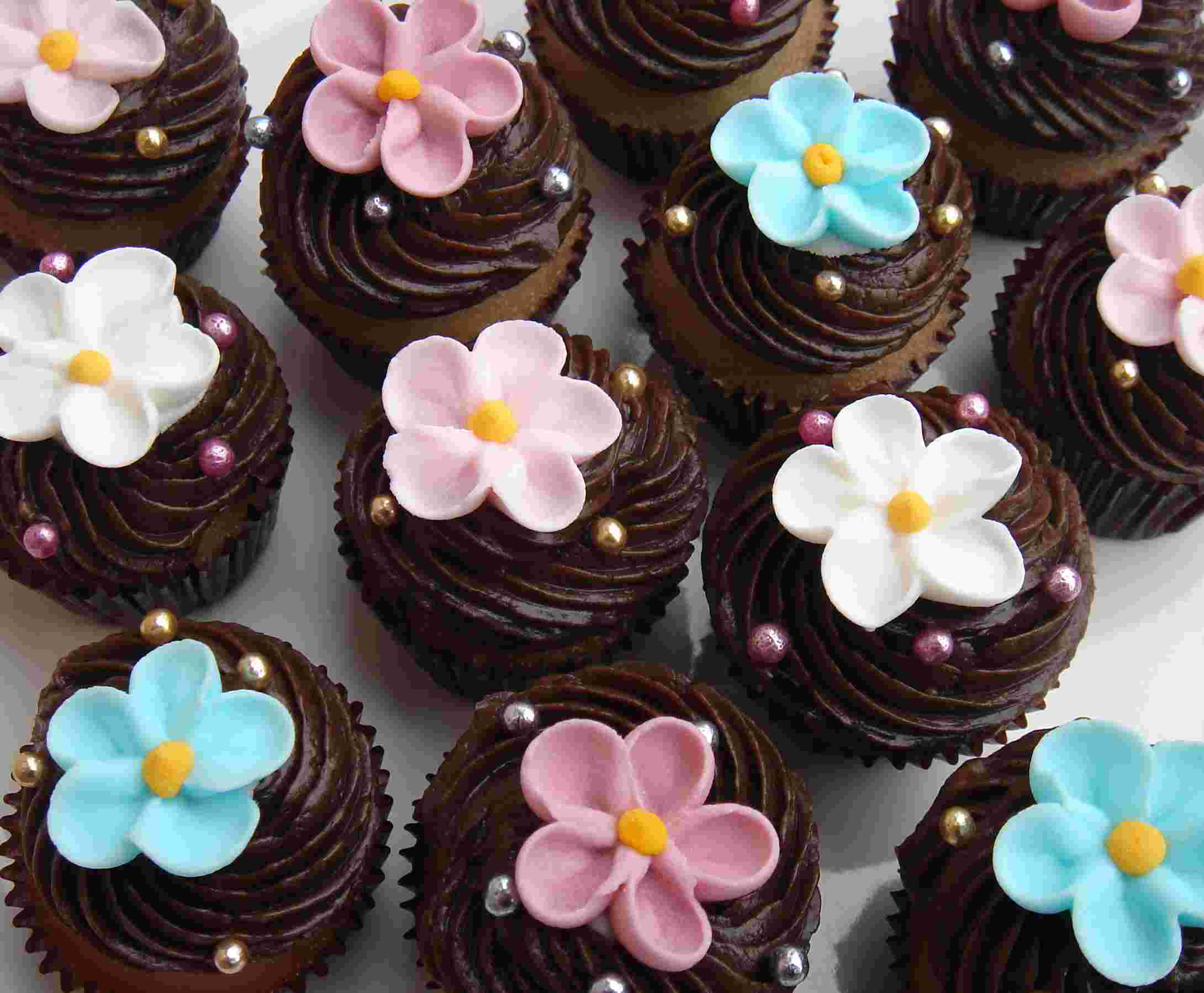 11 Decorated Chocolate Cupcakes Photo Cupcakes Decorated With