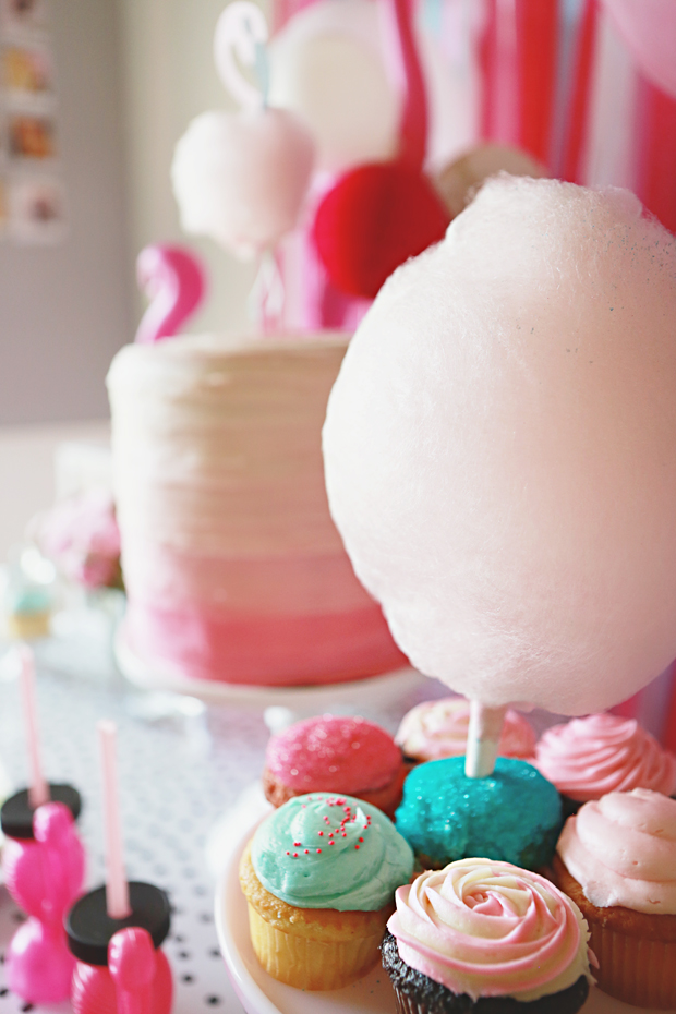 7 Cauldron Cupcakes With Cotton Candy Photo Fake Cotton Candy