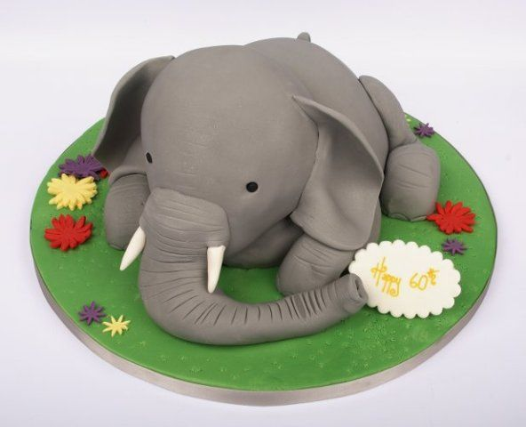 12 Elephant S Birthday Cakes Cute Photo Elephant Birthday Cake