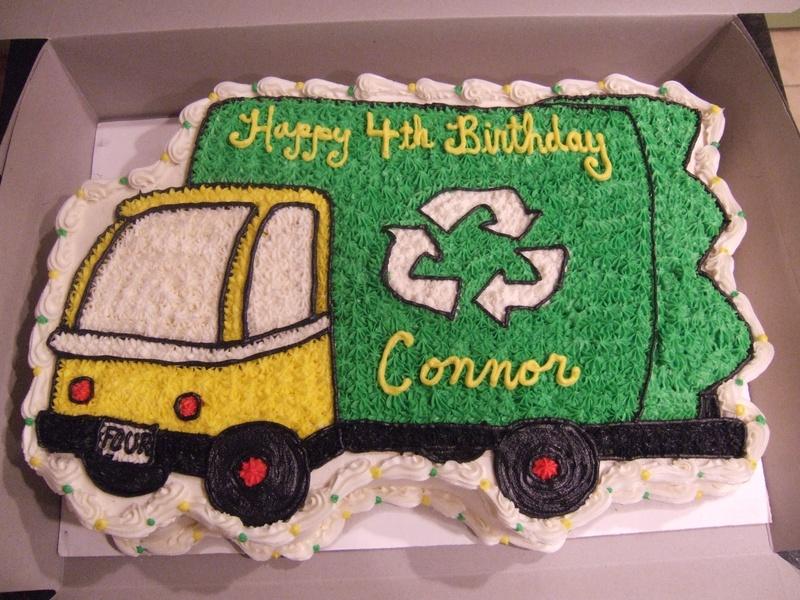 Incredible 5 Garbage Truck Cupcakes Photo Garbage Truck Birthday Cake Personalised Birthday Cards Veneteletsinfo
