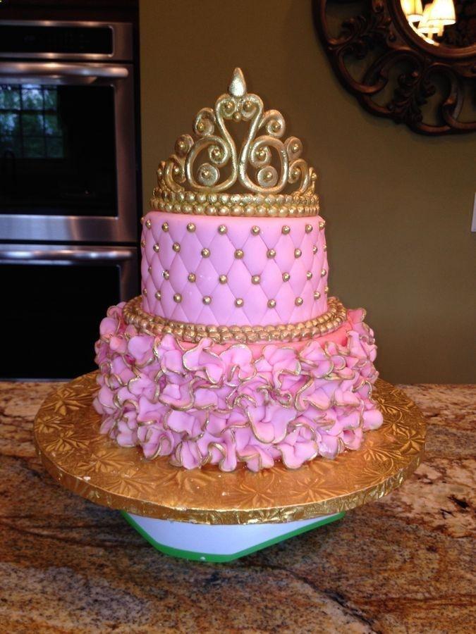 12 Hot Pink Princess Baby Shower Cakes Photo Pink Princess Baby