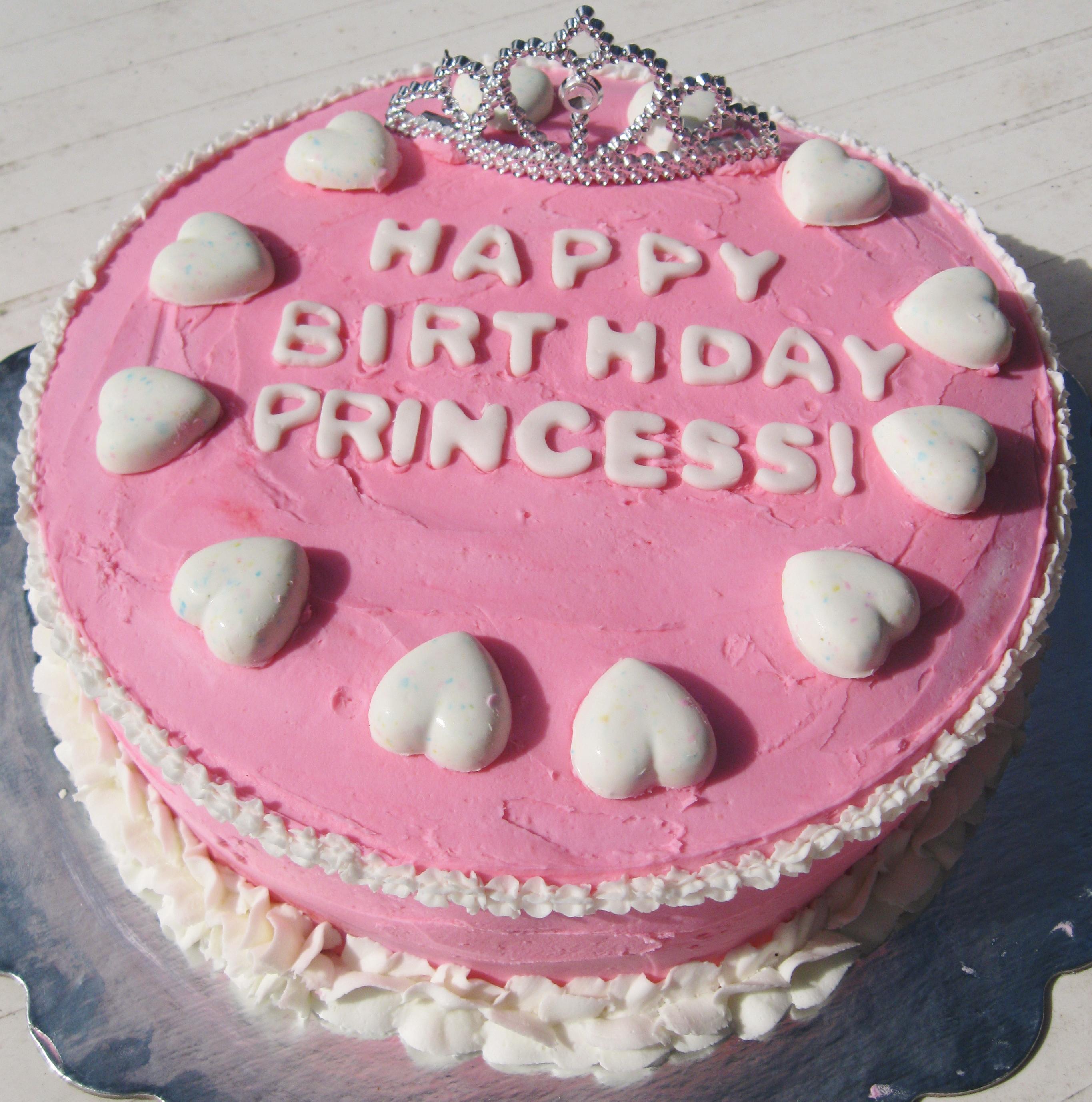 10 Princess Bday Cakes Photo Pink Princess Birthday Cake Happy
