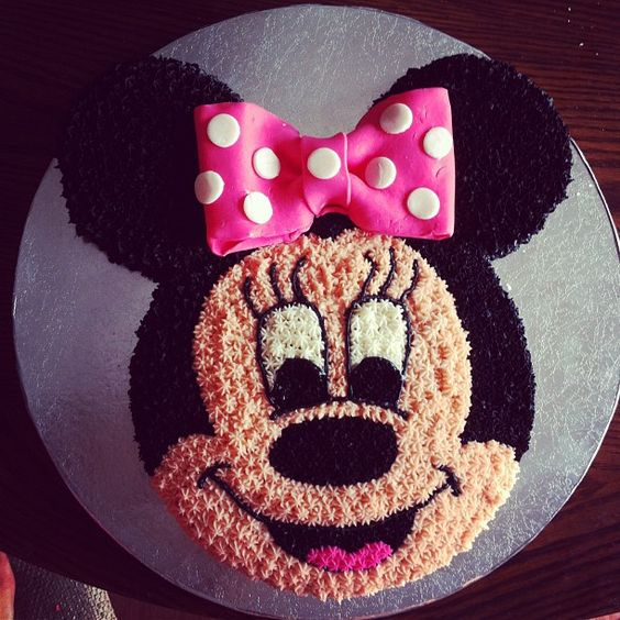 Cool 6 Minnie Mouse Round Birthday Cakes Photo Minnie Mouse Edible Funny Birthday Cards Online Barepcheapnameinfo