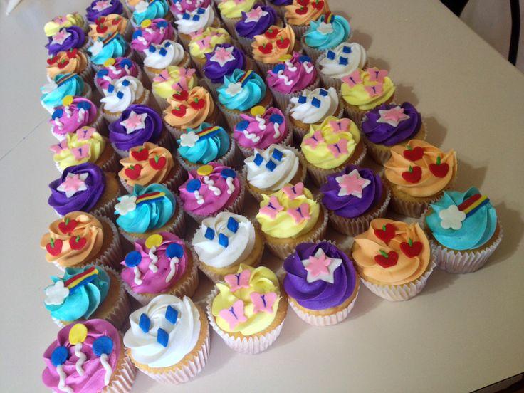 Astounding 9 Small Pony Birthday Party Cupcakes Photo My Little Pony Personalised Birthday Cards Sponlily Jamesorg
