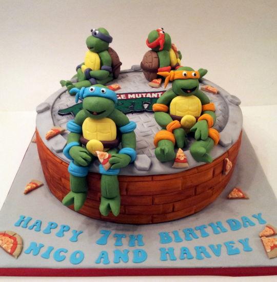 Admirable 8 Easy Girls Birthday Cakes Turtles Photo Turtle Cupcake Cake Personalised Birthday Cards Paralily Jamesorg