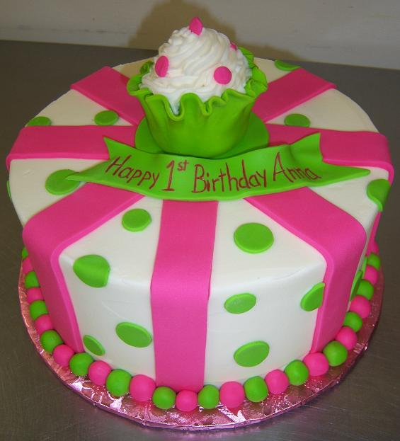 7 18 Birthday Cakes With Red And Green Photo Pink And Green
