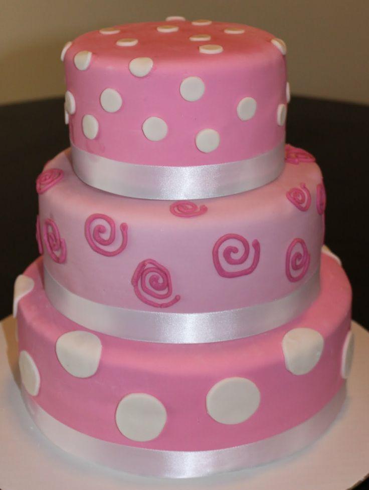 Remarkable 8 Polka Dot 1 Tier Cakes Photo Pink Polka Dot Cake Birthday Funny Birthday Cards Online Necthendildamsfinfo