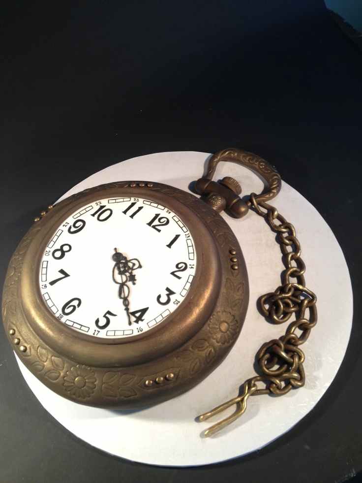 Phenomenal 7 Pocket Watch Birthday Cakes Photo Pocket Watch Cake Pocket Personalised Birthday Cards Arneslily Jamesorg