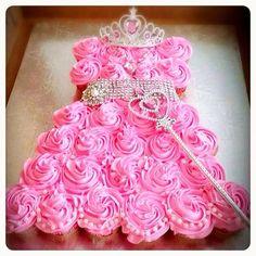 Princess 1st Birthday Cake Cupcakes