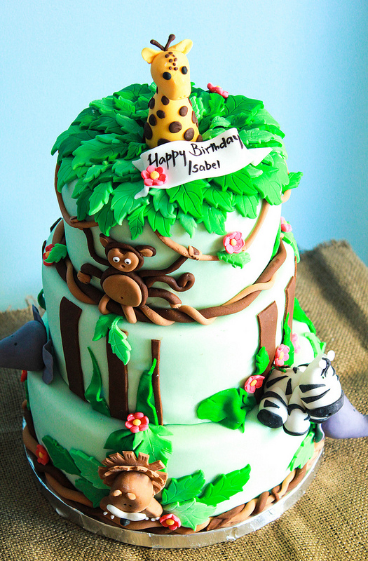 10 Safari Birthday Cakes Photo Jungle Theme Birthday Cake Jungle