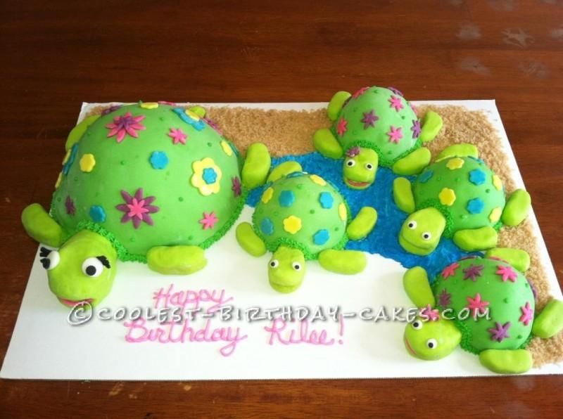 8 Easy Girls Birthday Cakes Turtles Photo Turtle Cupcake Cake