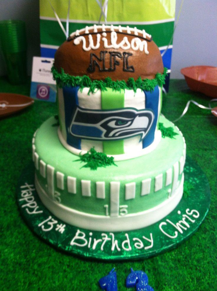 8 Seahawk Football Jersey Birthday Cakes Photo